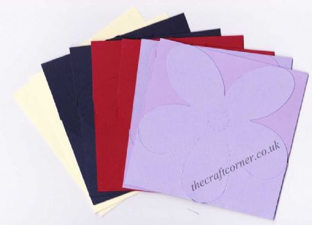 Flower Shaped Blank Jump Greeting Cards for Cardmaking